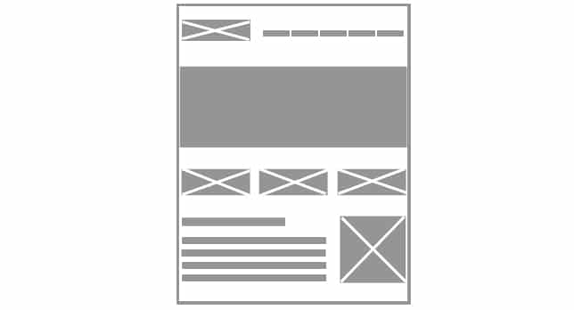 wireframe prototipo layout